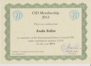 Certificato CID 2013