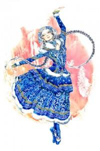 ballerina  russa in blu